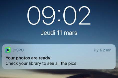notif application dispo photo disponible